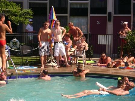 hotties at habana pool party board shorts