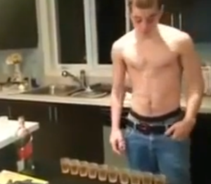 shirtlessdudedoingshots